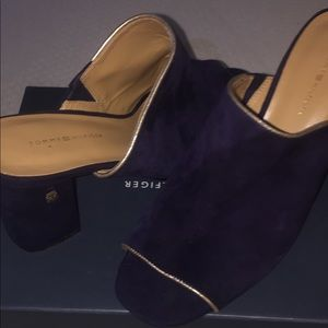 Navy Tommy Hilfiger Slip on Heels